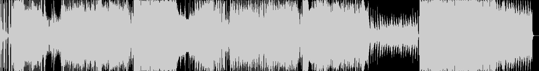 ドラマチックな展開のエレクトロなBGMの未再生の波形