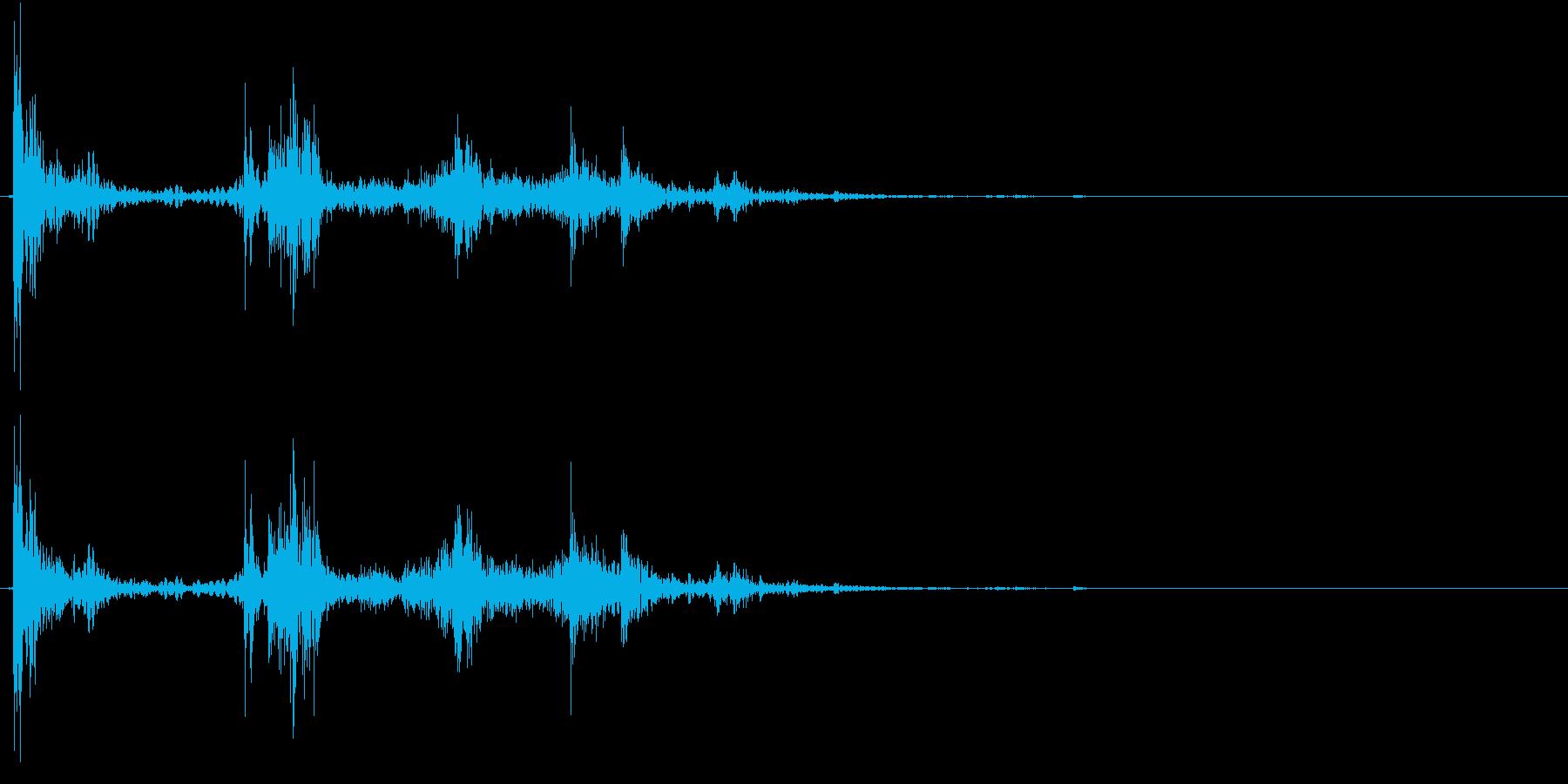【生録音】ゴミ箱にゴミを投げ捨てる音 1の再生済みの波形