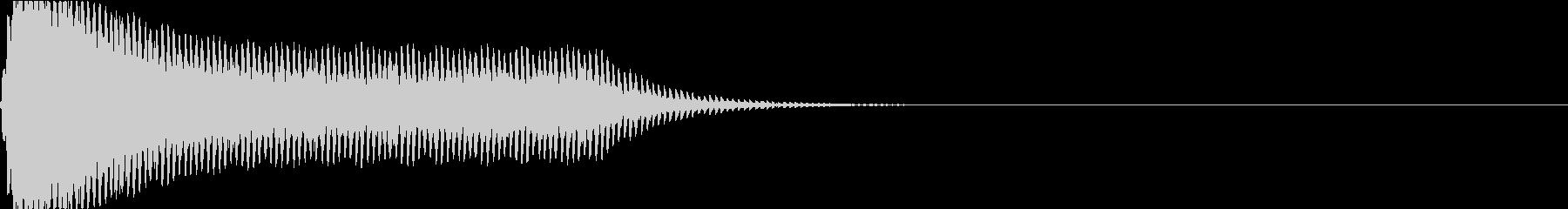 スタンガンの音02、電気の切れそうな音の未再生の波形
