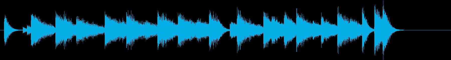 証城寺の狸囃子モチーフのピアノジングルBの再生済みの波形