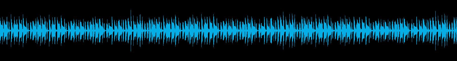 ほのぼのした雰囲気のかわいい日常系BGMの再生済みの波形