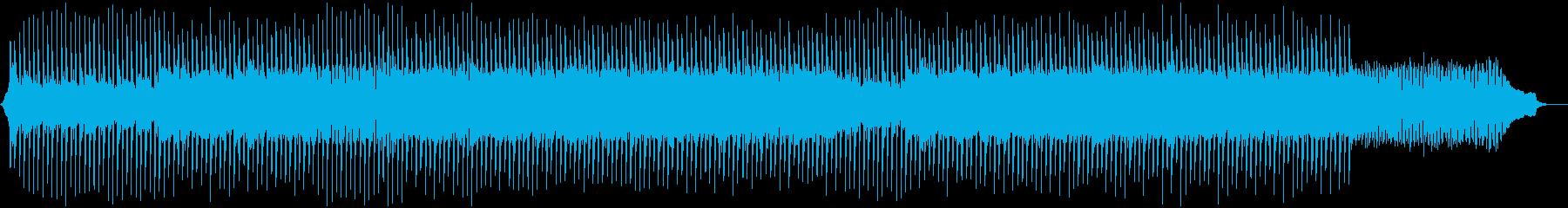 ピアノとシンセのテクノポップの再生済みの波形