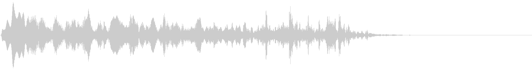 電子音のサウンドロゴの未再生の波形