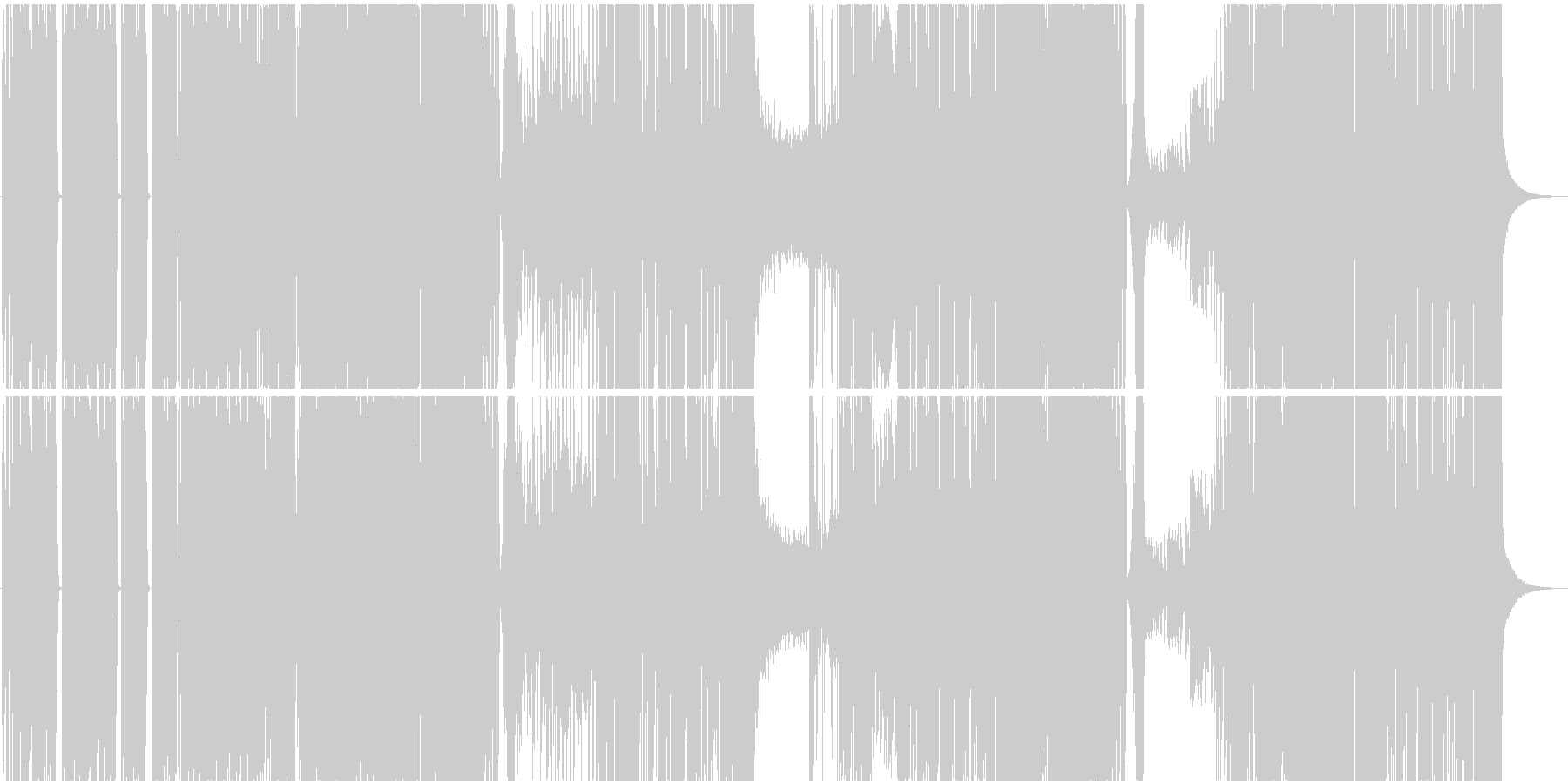 バトル系ヒップホップBGMの未再生の波形