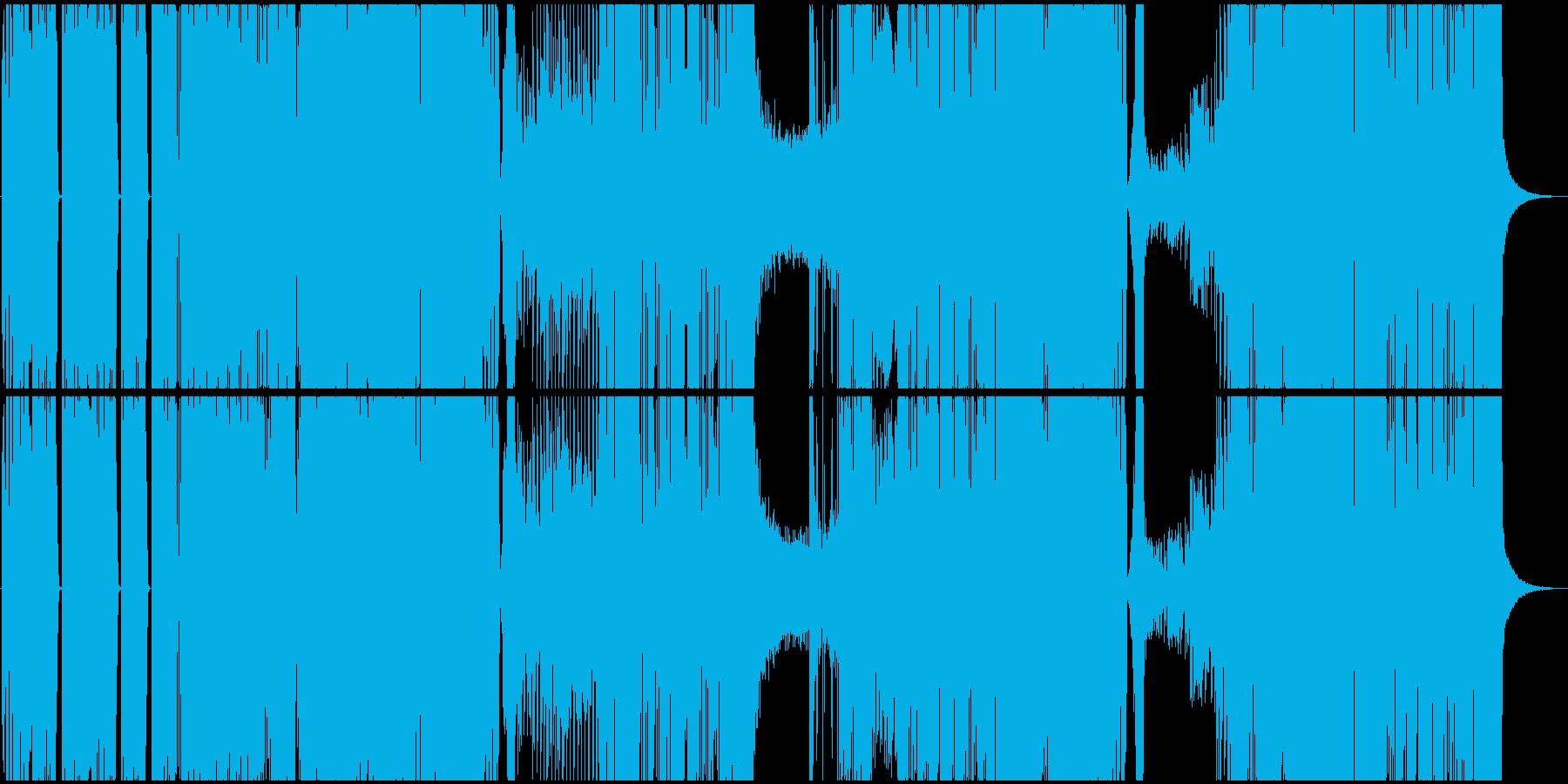 バトル系ヒップホップBGMの再生済みの波形