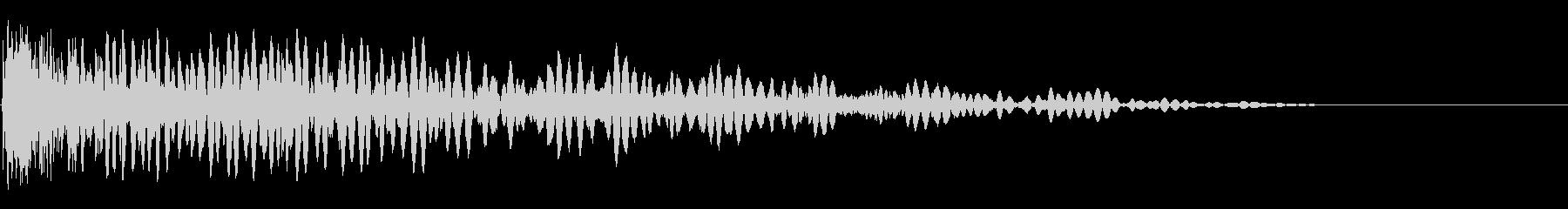 軽微な爆発の未再生の波形