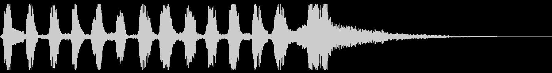 明るいリコーダーとピアニカのジングルの未再生の波形