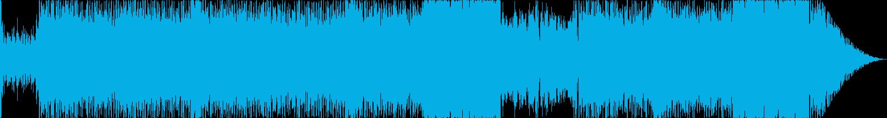神秘的で不思議な雰囲気のBGM2の再生済みの波形