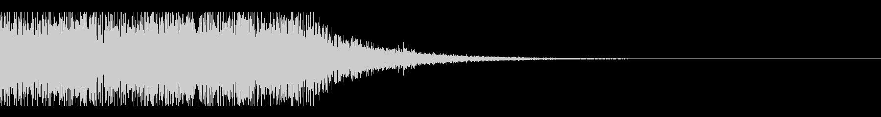 クイズ結果発表ーオーケストラ風の未再生の波形