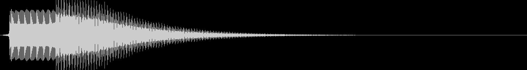 ピンポン(解答ボタンや正解の音に)の未再生の波形