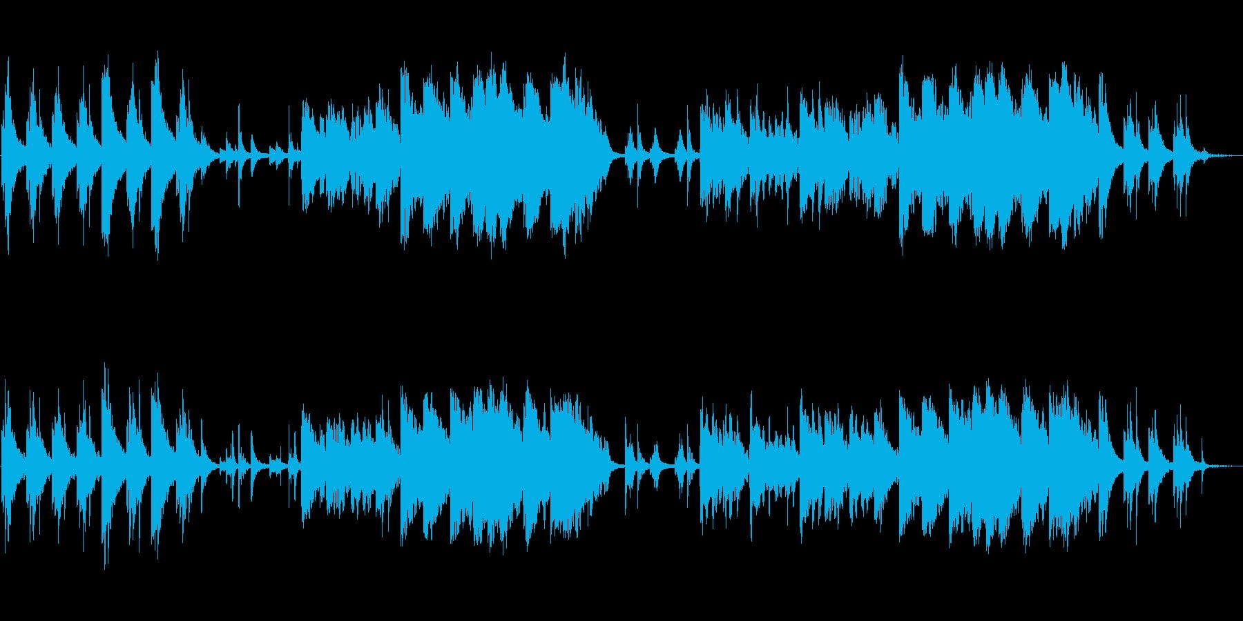 シンプルで幻想的なヒーリングミュージックの再生済みの波形