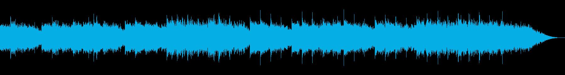 音の揺れが心地よいリラクゼーションBGMの再生済みの波形