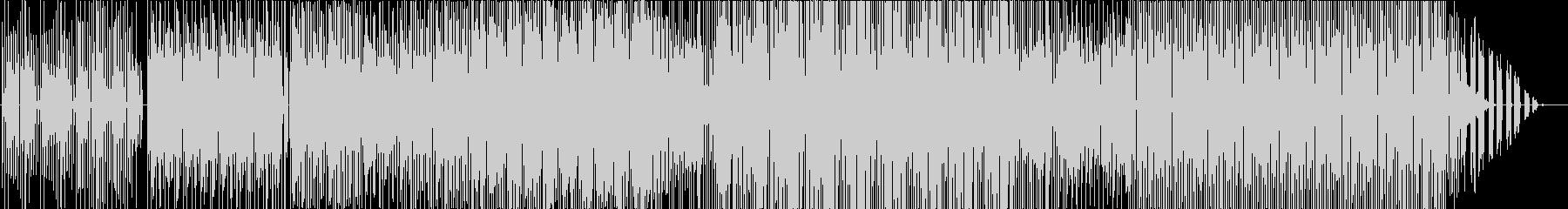 視覚と聴覚を失った事を想像する抽象音楽の未再生の波形