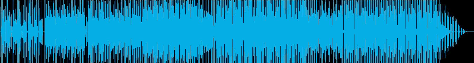視覚と聴覚を失った事を想像する抽象音楽の再生済みの波形