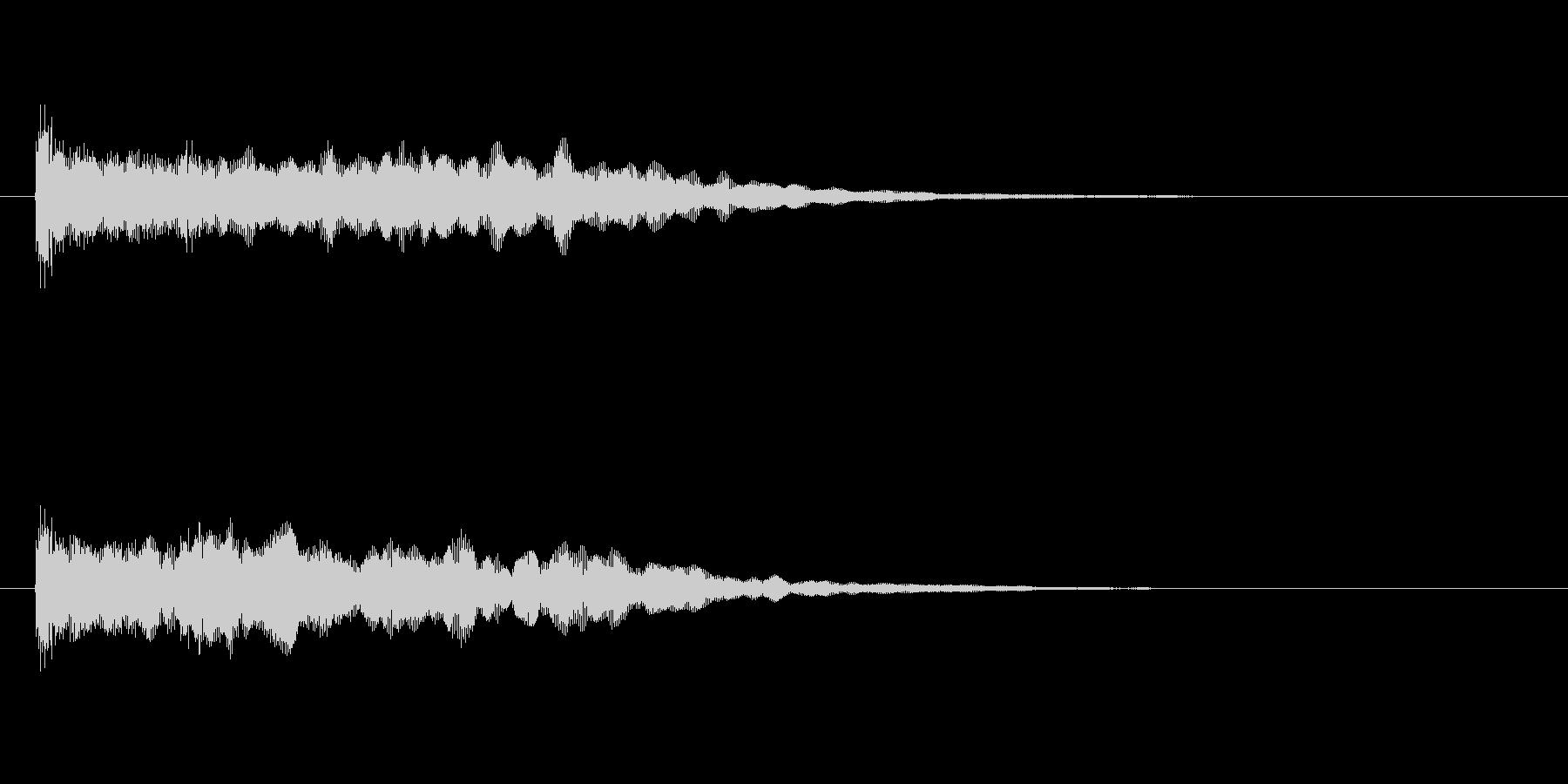 ポーンと反響するアコギとシンセの効果音の未再生の波形