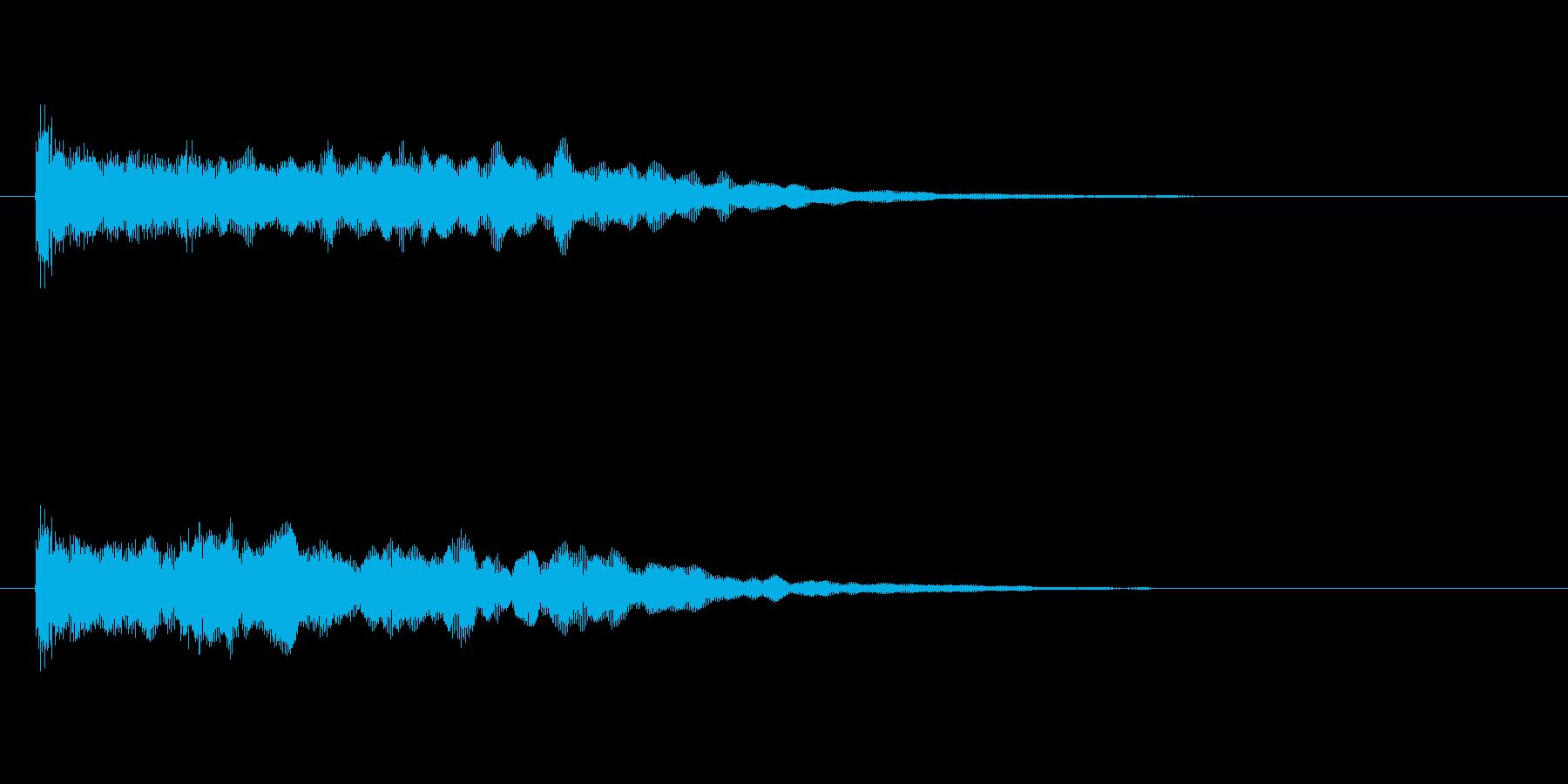 ポーンと反響するアコギとシンセの効果音の再生済みの波形