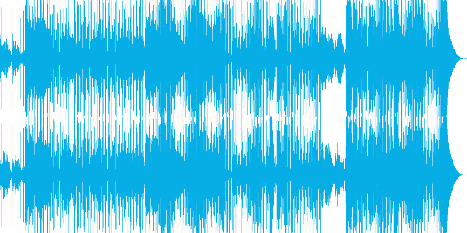 オシャレR&B・後半リズム変化・シンセ有の再生済みの波形