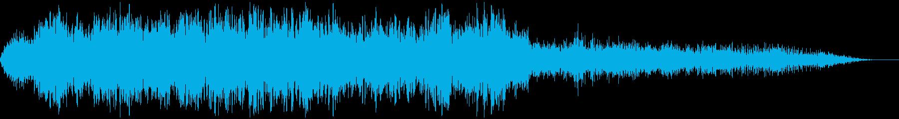 【アンビエント】ドローン_09 実験音の再生済みの波形
