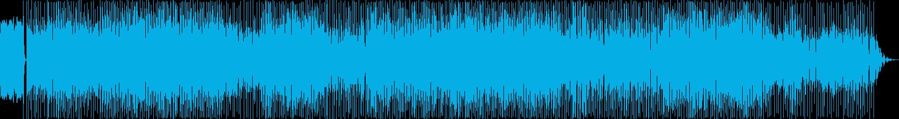 ノリの良い踊れるテクノミュージックの再生済みの波形