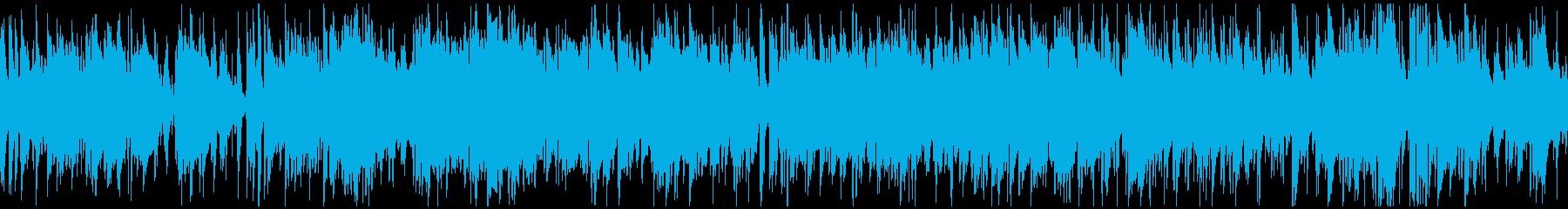 散歩、日常シーン系のボサノバ ※ループ版の再生済みの波形