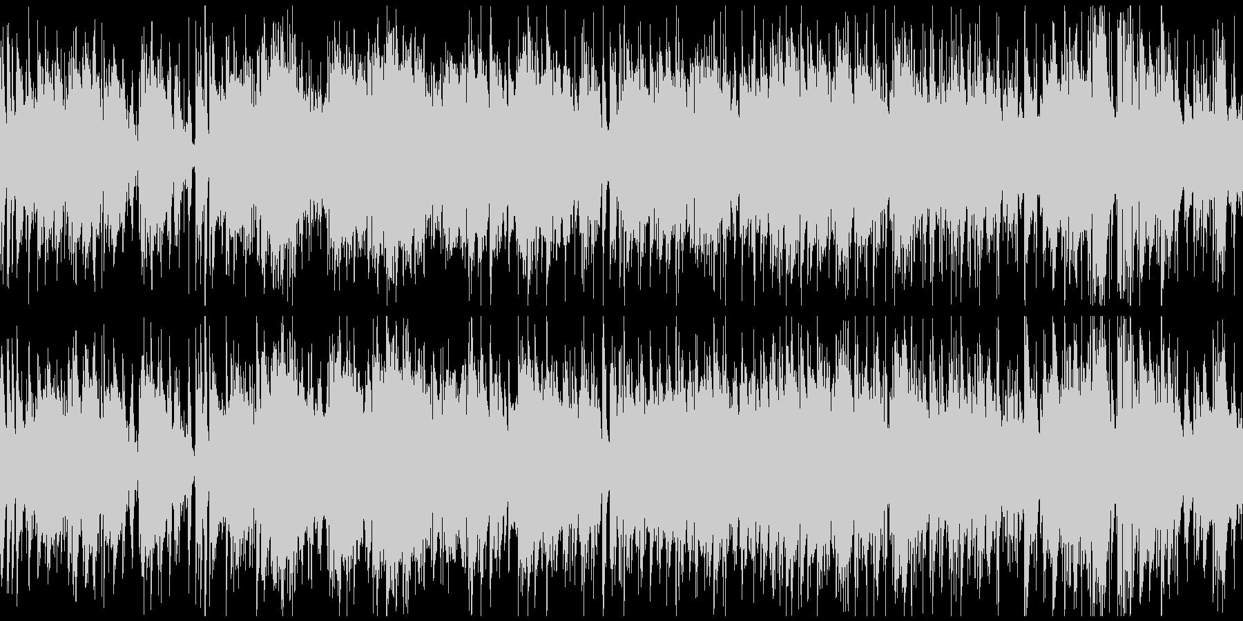 散歩、日常シーン系のボサノバ ※ループ版の未再生の波形