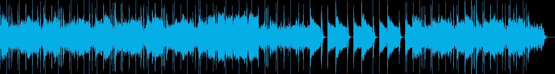静かなリラックス出来る一曲の再生済みの波形