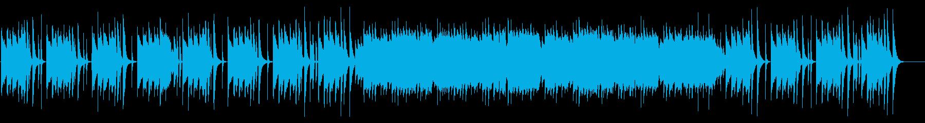 ほのぼのかわいい、やさしい雰囲気のBGMの再生済みの波形