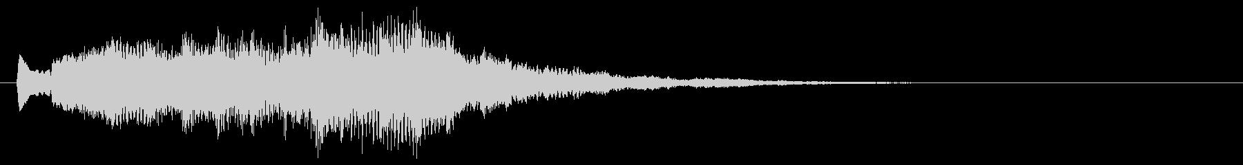 ピアノの悲しげなジングル・場面転換の未再生の波形