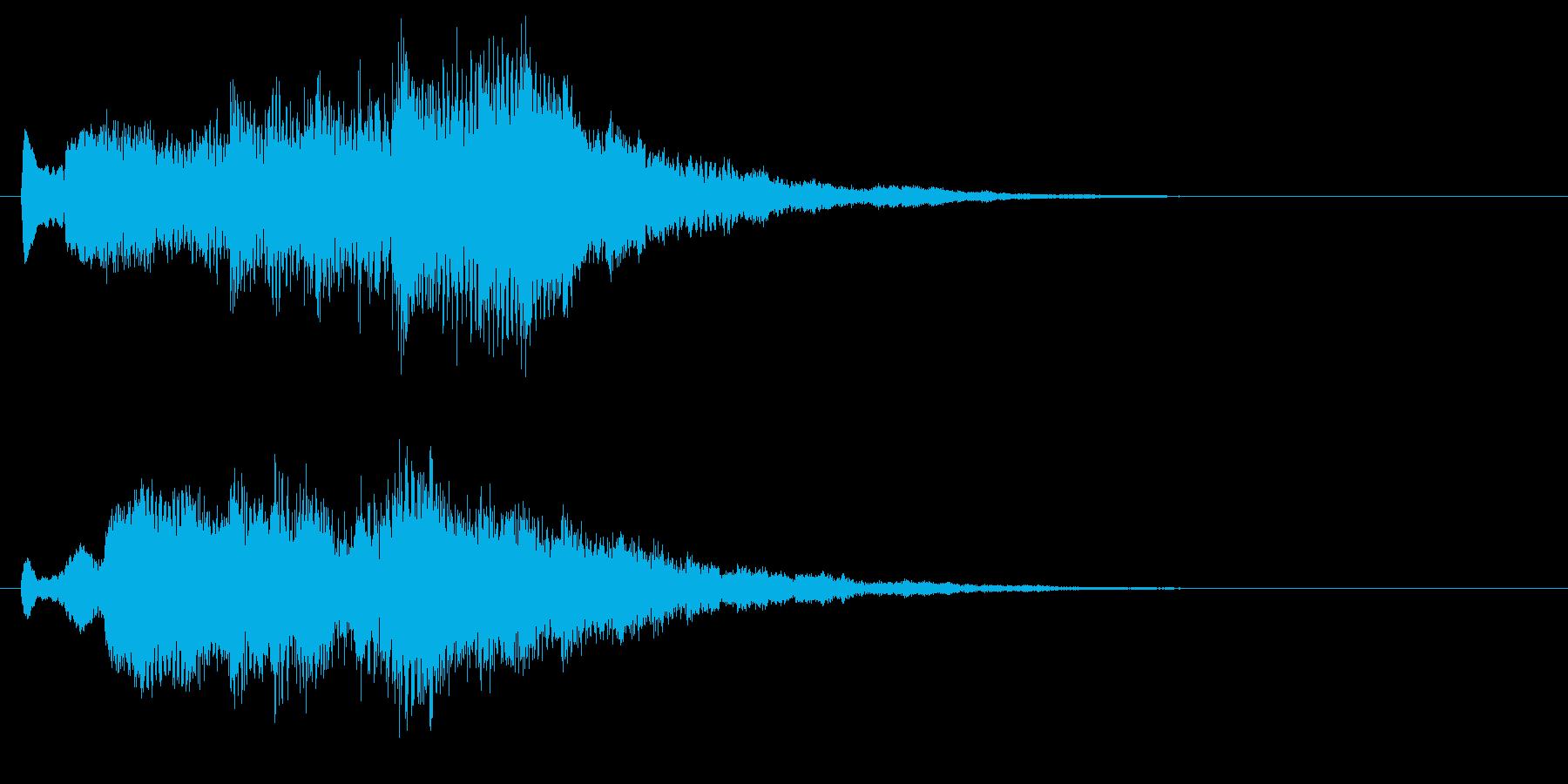 ピアノの悲しげなジングル・場面転換の再生済みの波形