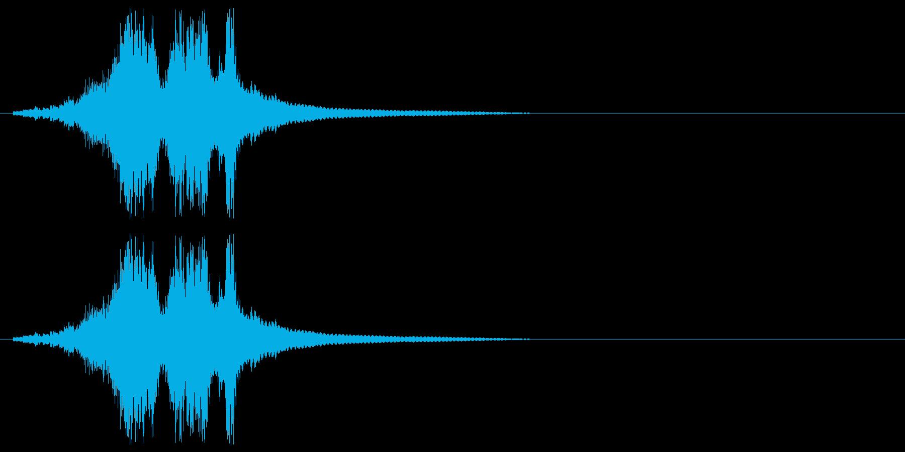 シャキーン(剣を抜くときの音)の再生済みの波形