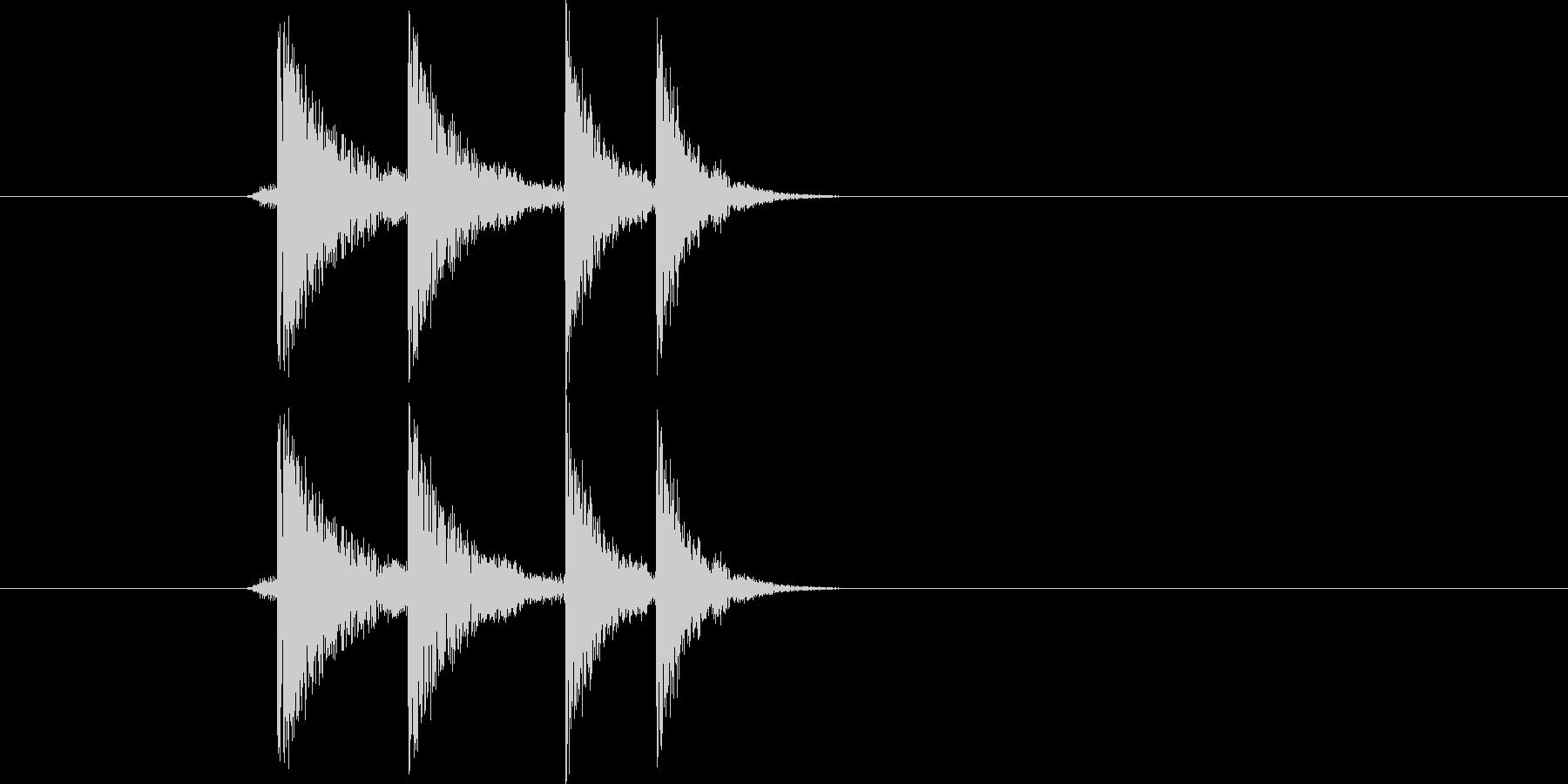 ポリ!(アプリ、クリック)の未再生の波形
