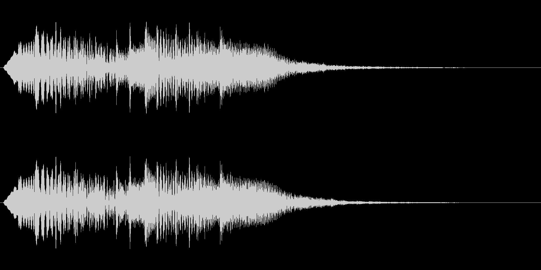 チャラララ(透明感のある場面転換音)の未再生の波形