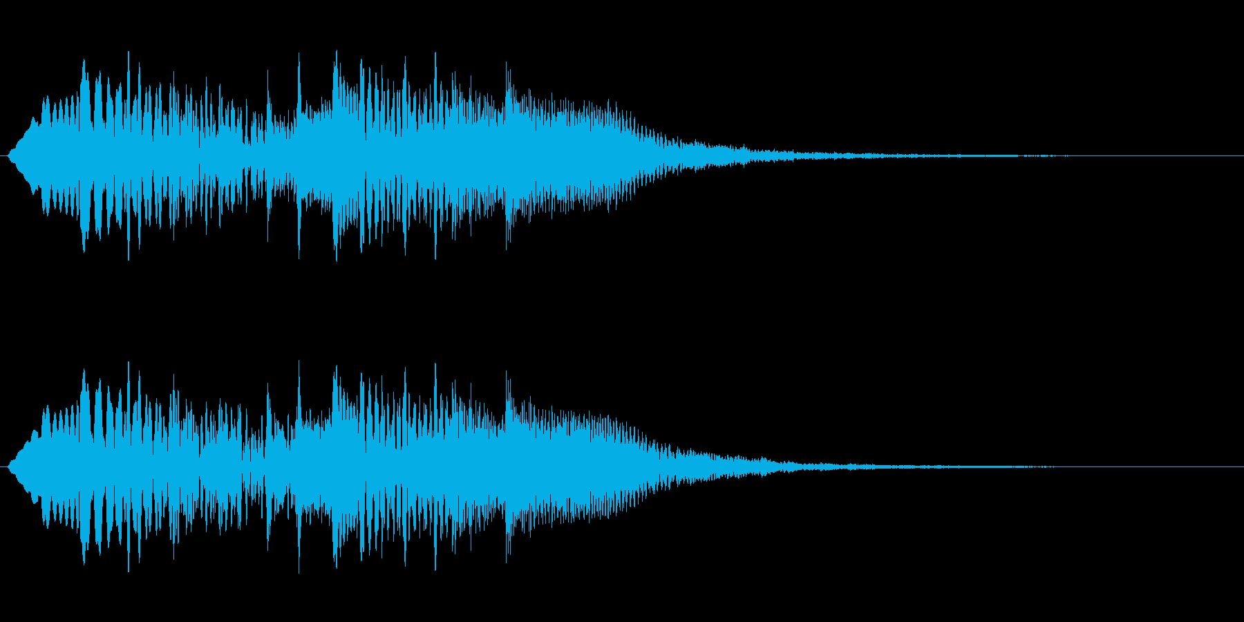 チャラララ(透明感のある場面転換音)の再生済みの波形