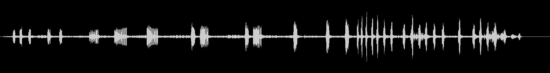 ブルークライマーパイカタンクの未再生の波形