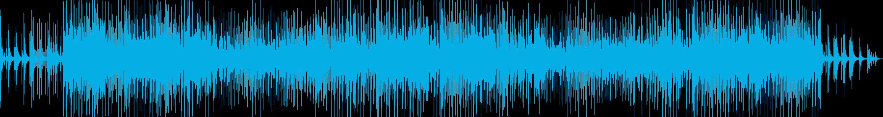 チルなピアノローファイヒップホップの再生済みの波形