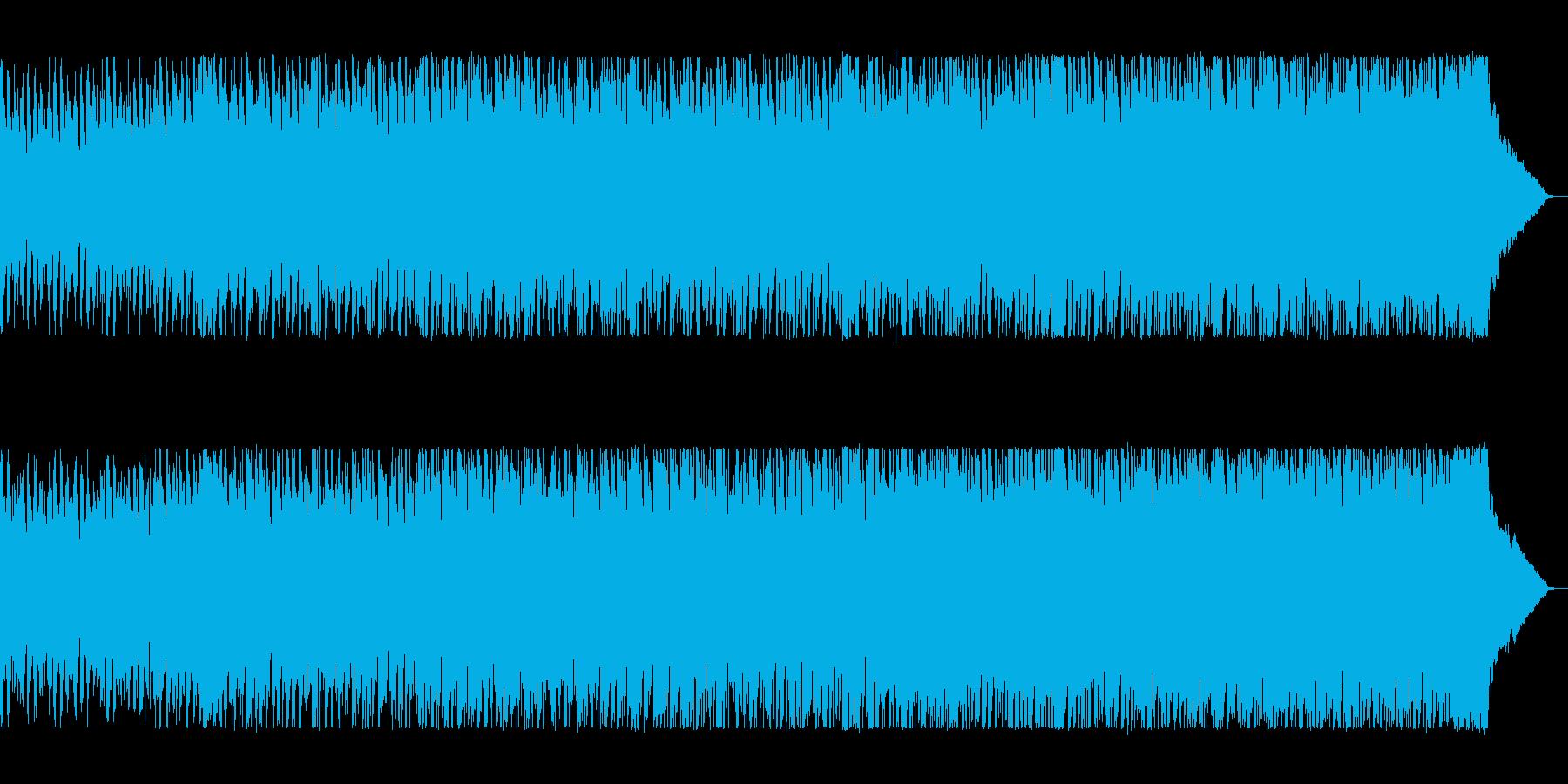 シンセサイザーが効いた明るいポップスの再生済みの波形