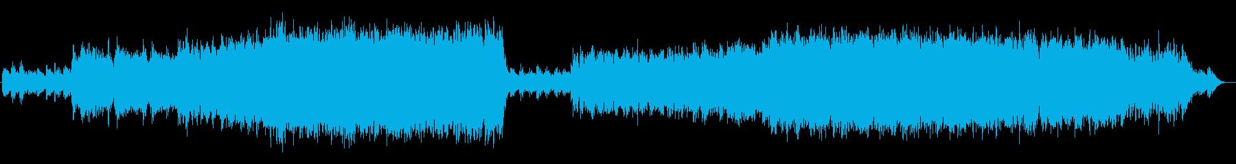 癒しとキラキラ感に満ちた曲の再生済みの波形