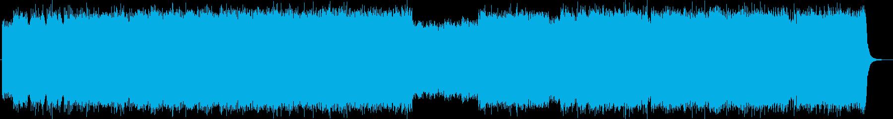 バンドサウンドの縦ノリなロックの再生済みの波形