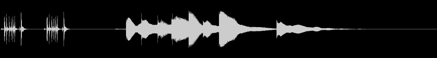 ジングル用オルゴール楽曲06-1の未再生の波形
