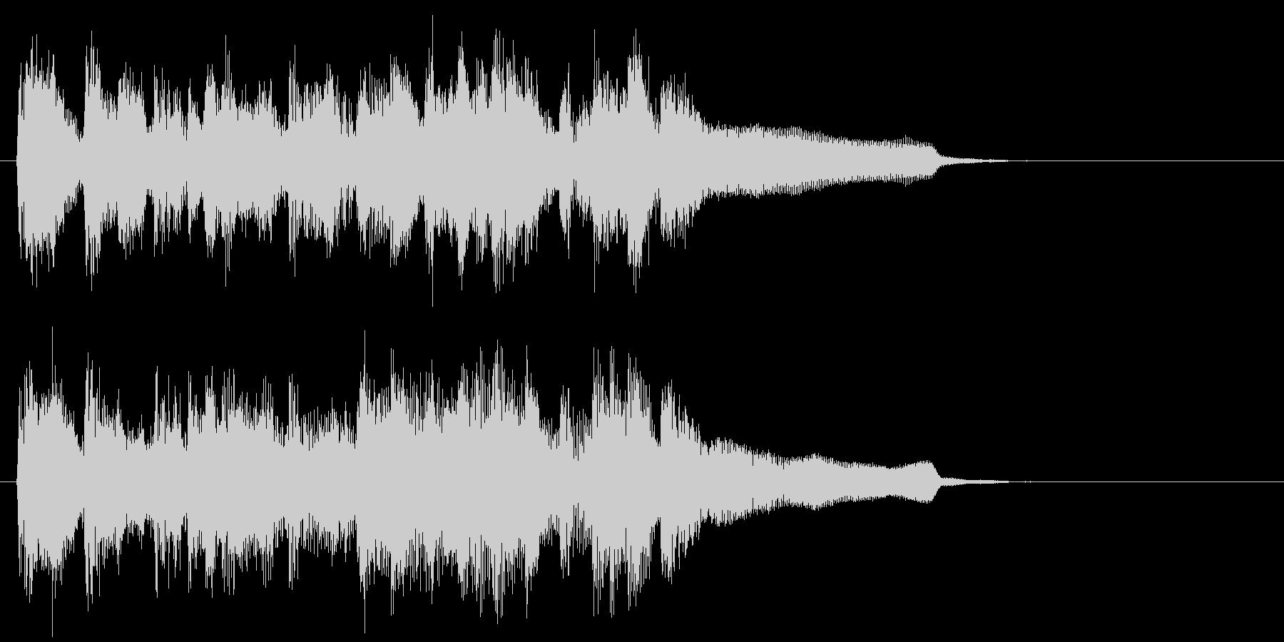 陽気なフルート生演奏カントリー系ジングルの未再生の波形