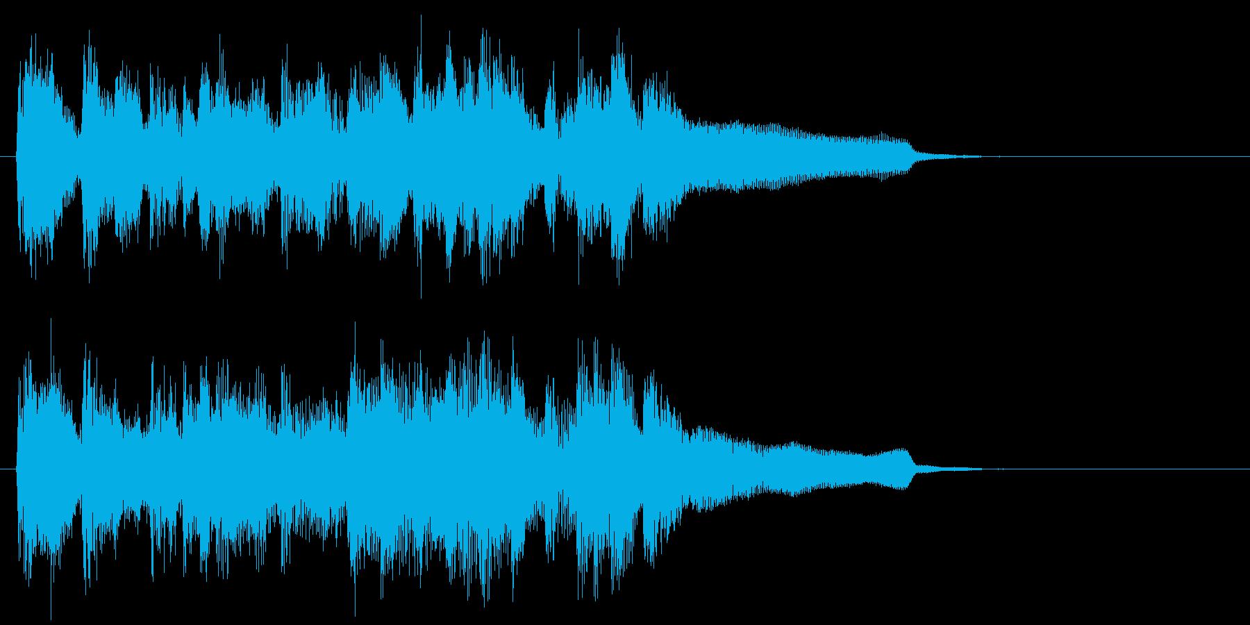 陽気なフルート生演奏カントリー系ジングルの再生済みの波形