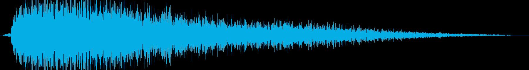 シュー(金属系効果音)の再生済みの波形