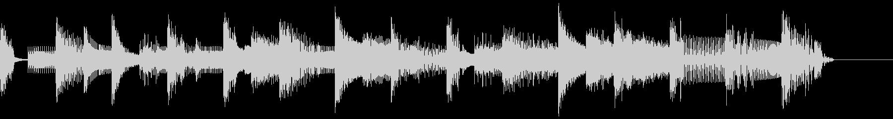 ピコピコゲーム音のジングルの未再生の波形