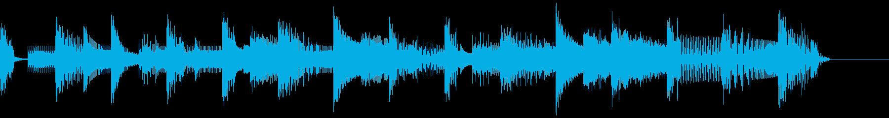 ピコピコゲーム音のジングルの再生済みの波形