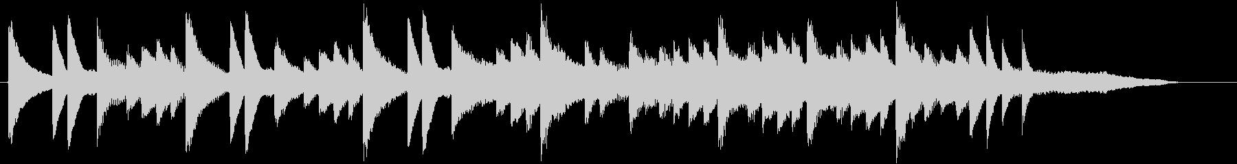 きよしこのよるモチーフのピアノジングルBの未再生の波形