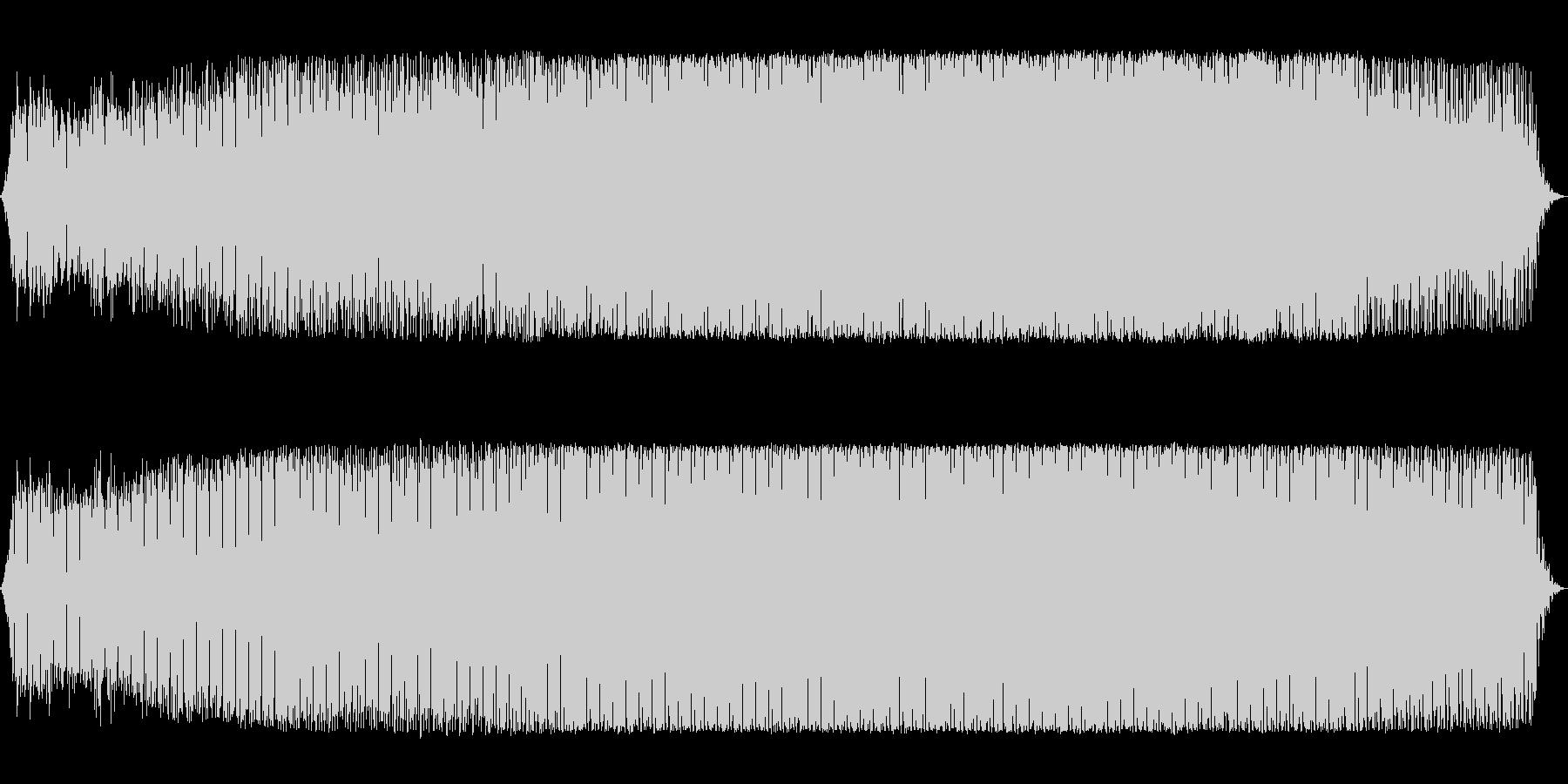 ドラム主体のミニマルテクノの未再生の波形