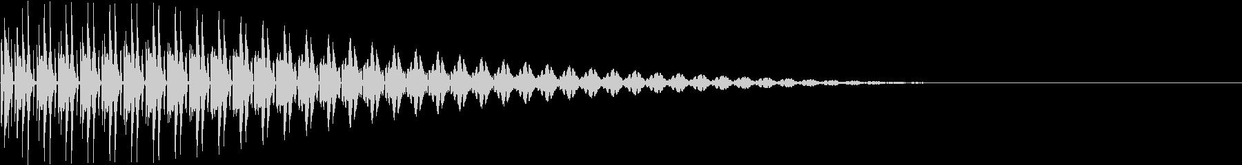 BOTAN テクノな決定ボタン 1の未再生の波形