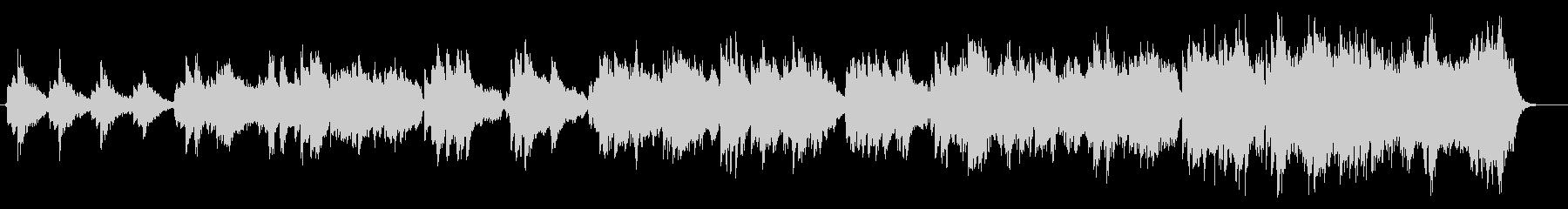 二胡、琵琶などを使用したアジアンな曲の未再生の波形