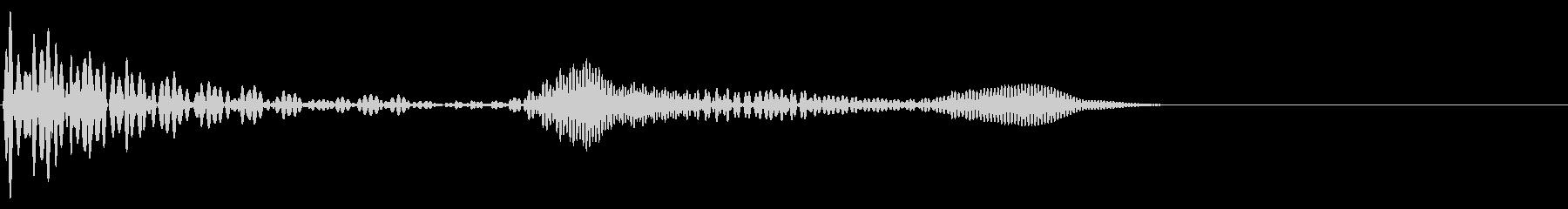 ポワッとした柔らかいボタン音の未再生の波形