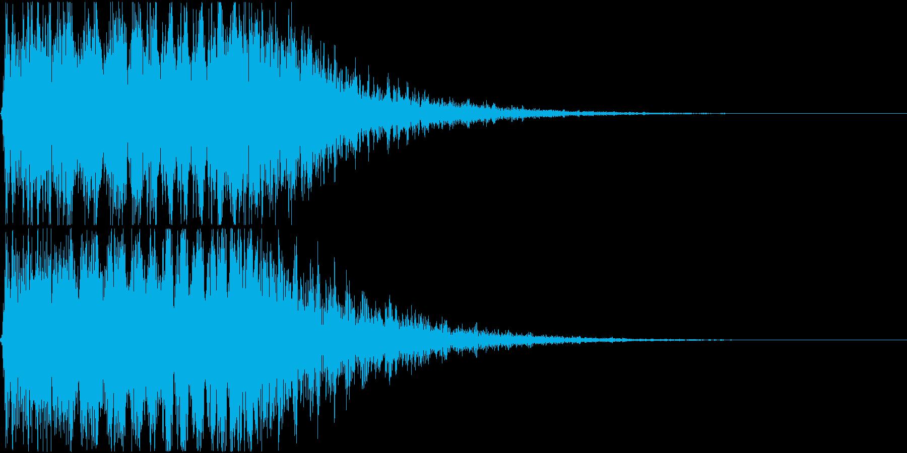 キュイン ギュイーン シャキーン 10の再生済みの波形